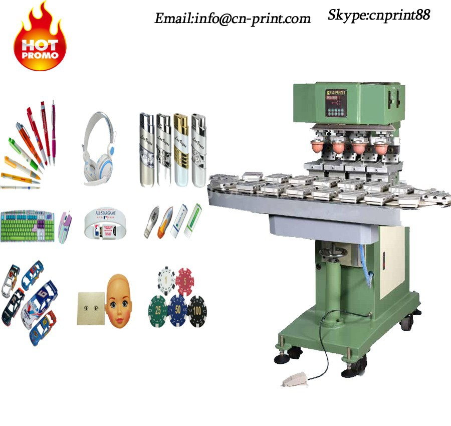 pneumatic pad printer razor pad printing machine glass tampografia with conveyer