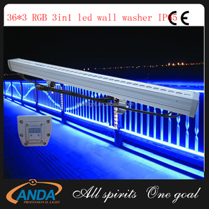 Wholesale colorful dmx 512 outdoor 36x3w rgb 3in1 led wall washer with CE