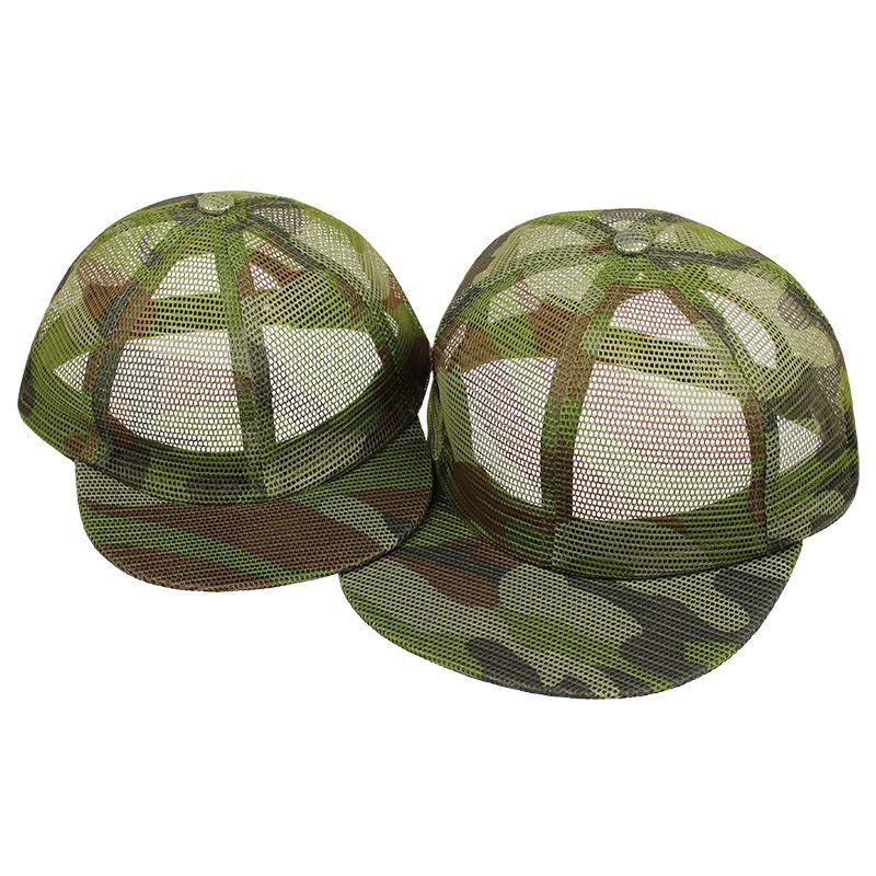 546cdaaa165b14 Hot sale flat brim snap cap hat snapback custom camo full mesh trucker cap