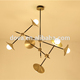 Creative gold trumpet modern pendant wine pendant lamp for shop coffee hotel
