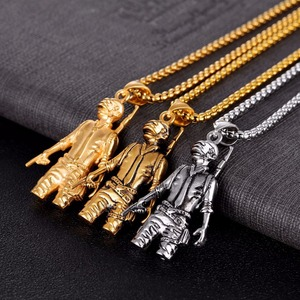 Fashion Military Statue Dubai Gold18k Jewelry Necklace Men Jewelry Wholesale NS8040068