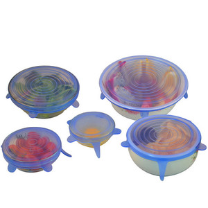 7 Pack As Seen on TV Clear Reusable Silicone Stretch Lids