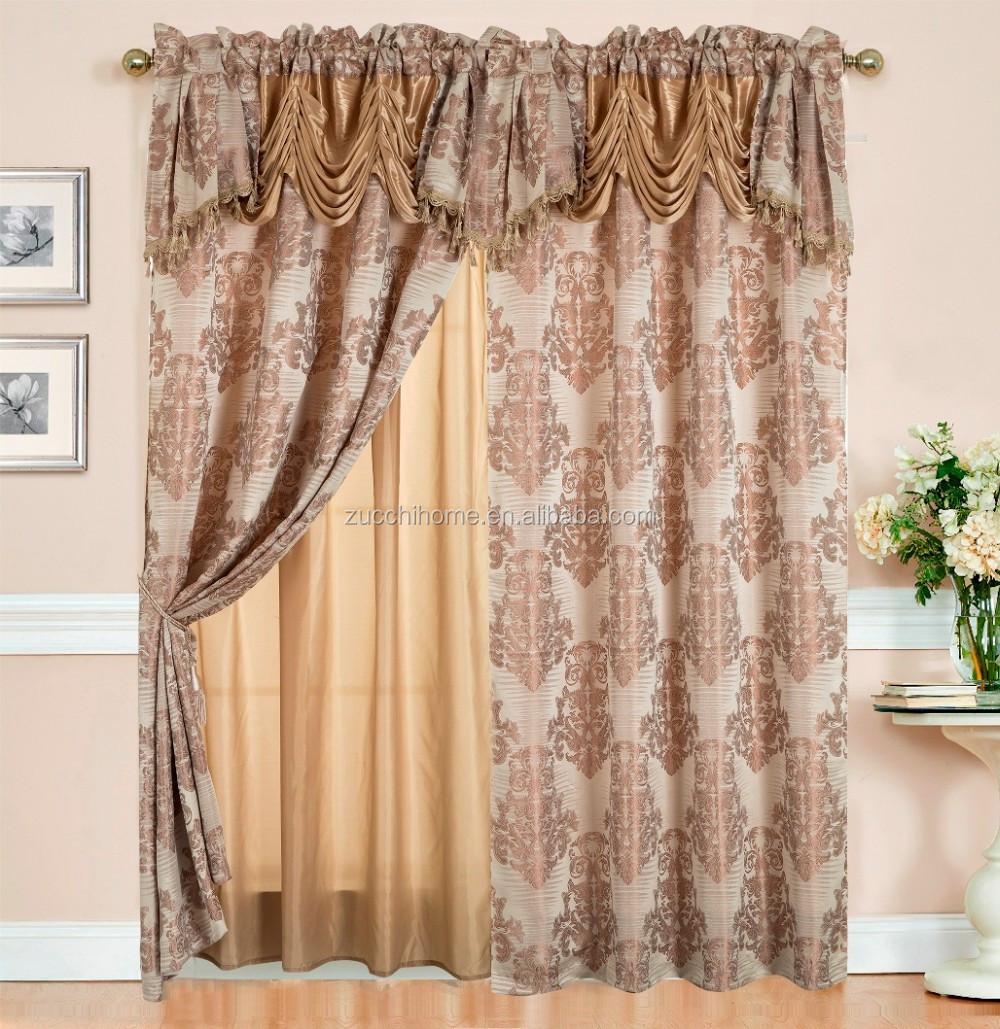 Luxus Amerikanische Vorhang Stoff Jacquard Vorhänge Mit ...
