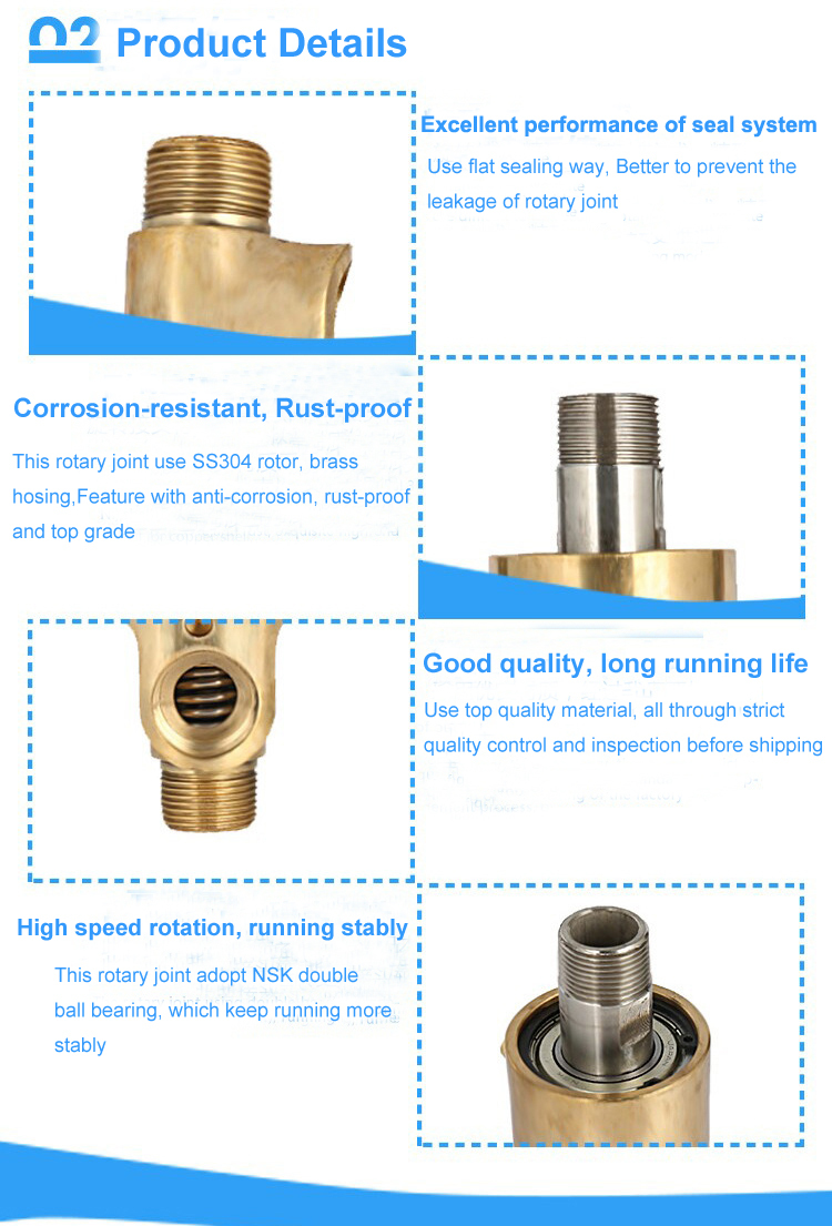 "Mechanical brass fitting 3/4""-2"" water rotating joint/rotary joint/water swivel coupling"