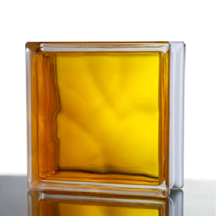 Hollow cheap colored square clear art building solid glass block