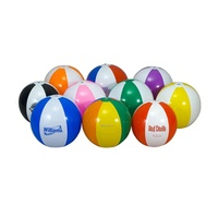 Custom PVC inflatable beach ball with logo printing