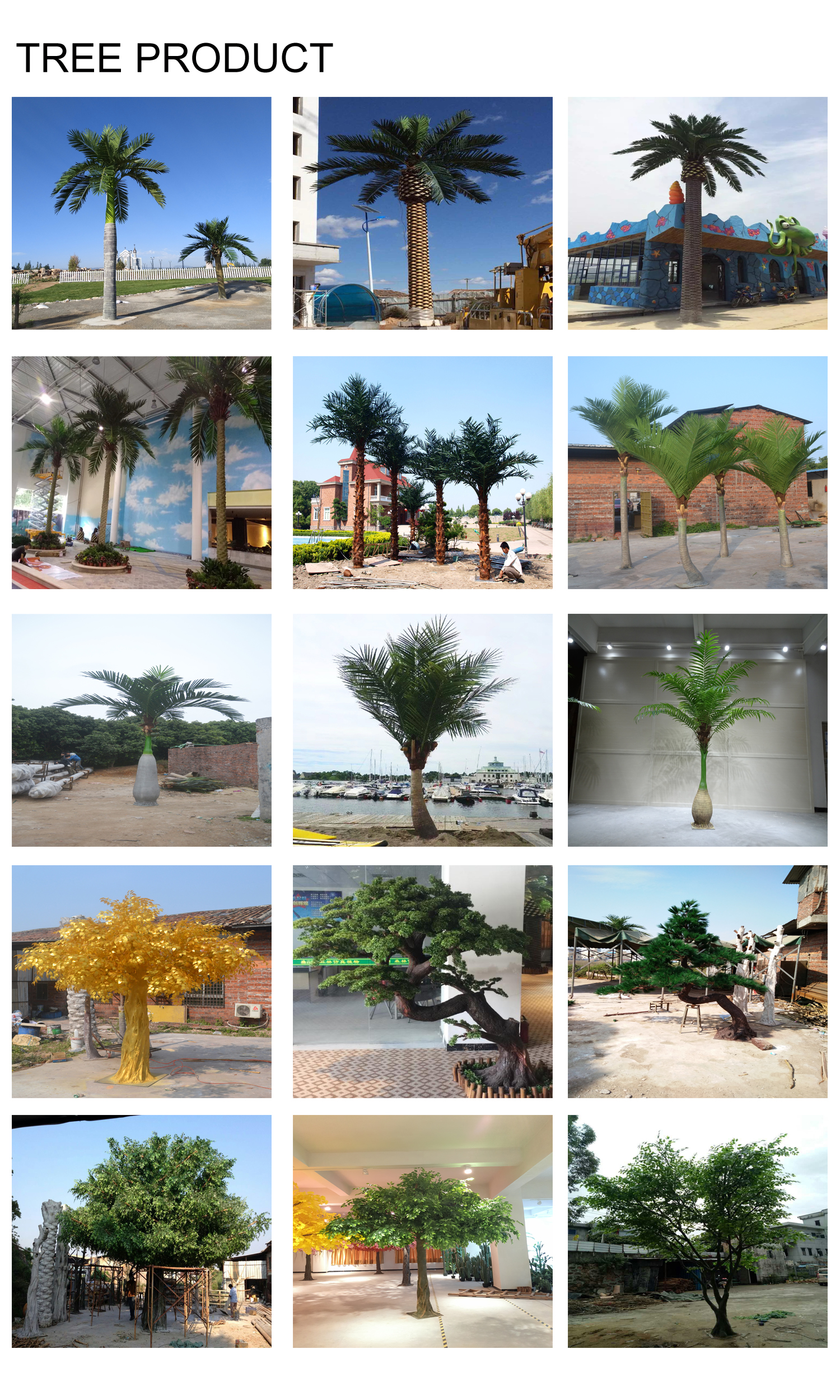 Personalizar paisaje al aire libre barato artificial de phoenix sylvestris de árbol de palma