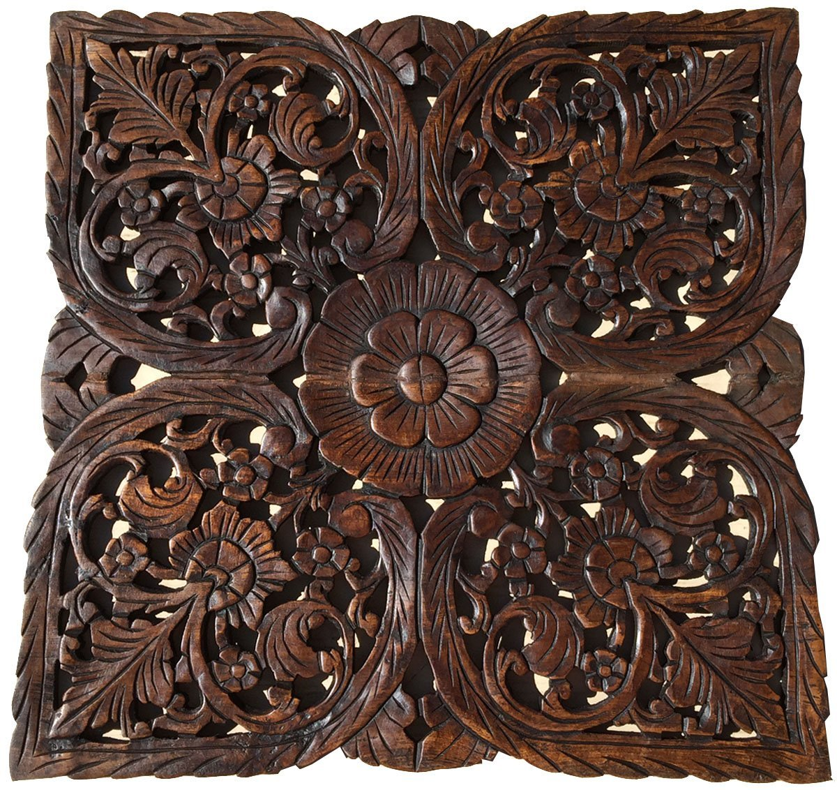 Buy Rustic Wood Wall Decor Large Tropical Carved Wood Plaque