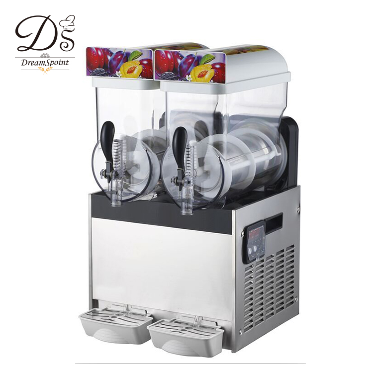 2 bowl slush machines 15L Frozen Drink Slush Ice Cream Machine