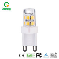 Various colors available G9 220v led lamp