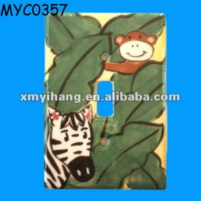 Painted ceramic wall tiles switch cover