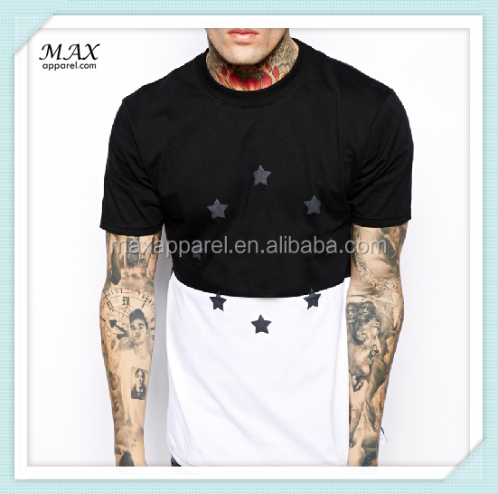 China Wholesale T-shirt Two Tone Design Cotton Men T-shirt Short ...