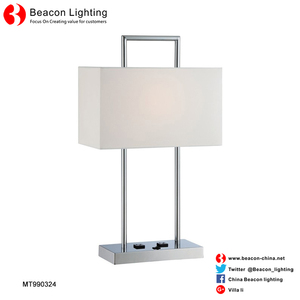 Specialized production hot sale hotel guest room brown table lamp Factory wholesale