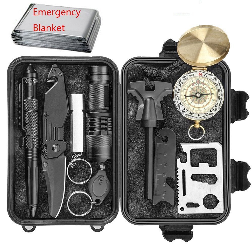 Professionele 10 in 1 Emergency Outdoor Survival Tool voor Outdoor Travel Hike Gebied Camp