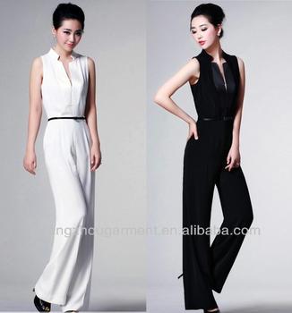 31e6d21622b women elegant white formal jumpsuit