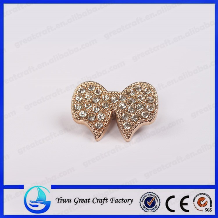 New fashion zinc alloy golden bowknot fully-jewelled Alloy parts
