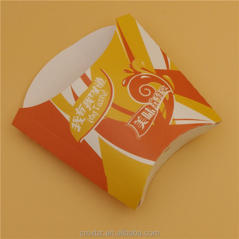 Cheap customized disposable oil-proof paper chips french fries packaging
