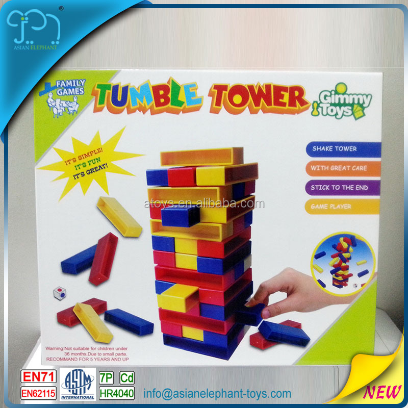 Tumble Tower Giant Jenga For 2017 New Toys Blocks Plastic Jenga With ASTM