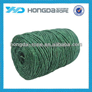 100% High Tenacity Material twisted 6mm jute rope dyed