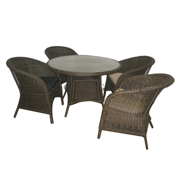 Wholesale cheap 5pcs wicker coffee table and chair set rattan outdoor furniture of rattan