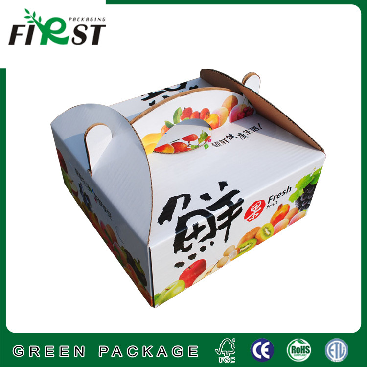 Corrugated Fruit Box Paper Carton Box, High Quality Corrugated Fruit Box