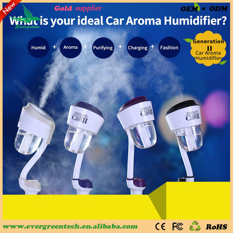 Car aroma diffuser essential oil,Air Humdifier With Usb charge for car