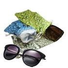 Double drawstring personalized pattern microfiber 3D glasses phone pouch