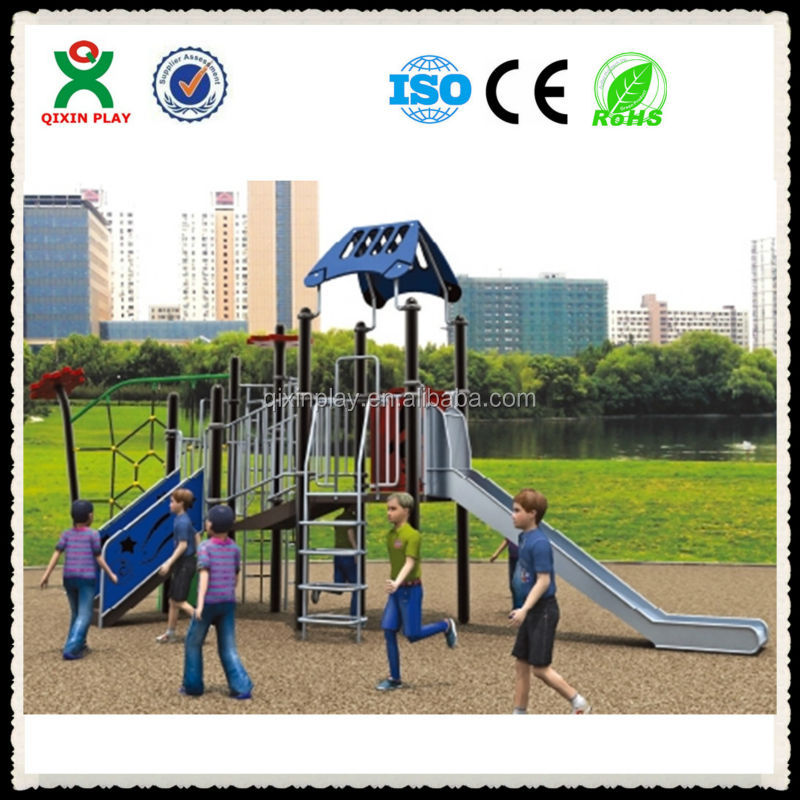 Outdoor group activity games outdoor baby swings little tikes climber and slide QX-012C