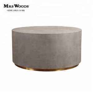 Outdoor concrete round cement coffee table