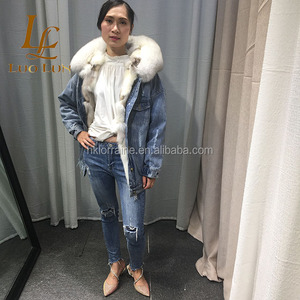 fac3b3a584e Hot Sale Fashion jackets women 2018 winter woman Fox Fur Lined Real Fur  Parka With