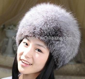cf8c52bfc61 Genuine Winter Silver Blue Fox Fur Hat Winter Animal Fur Hat - Buy ...
