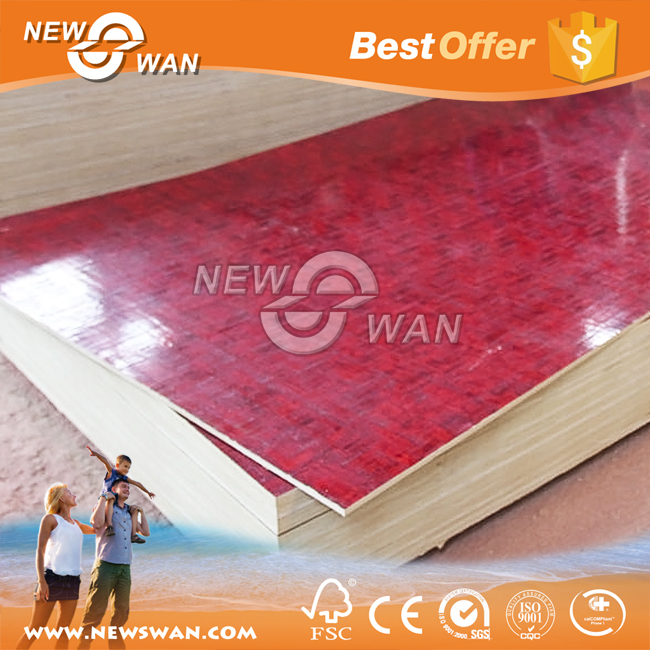 Twice Hot-Pressed Red Nature Bamboo Plywood For Construction