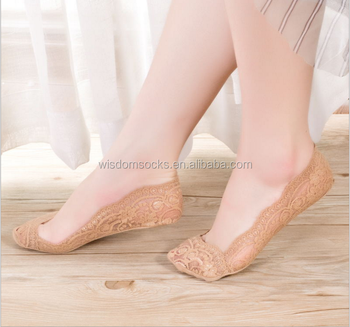 3289d3c4a6cf5 Wholesale Fashion Women Summer Invisible Liner Lace Toe Socks ...