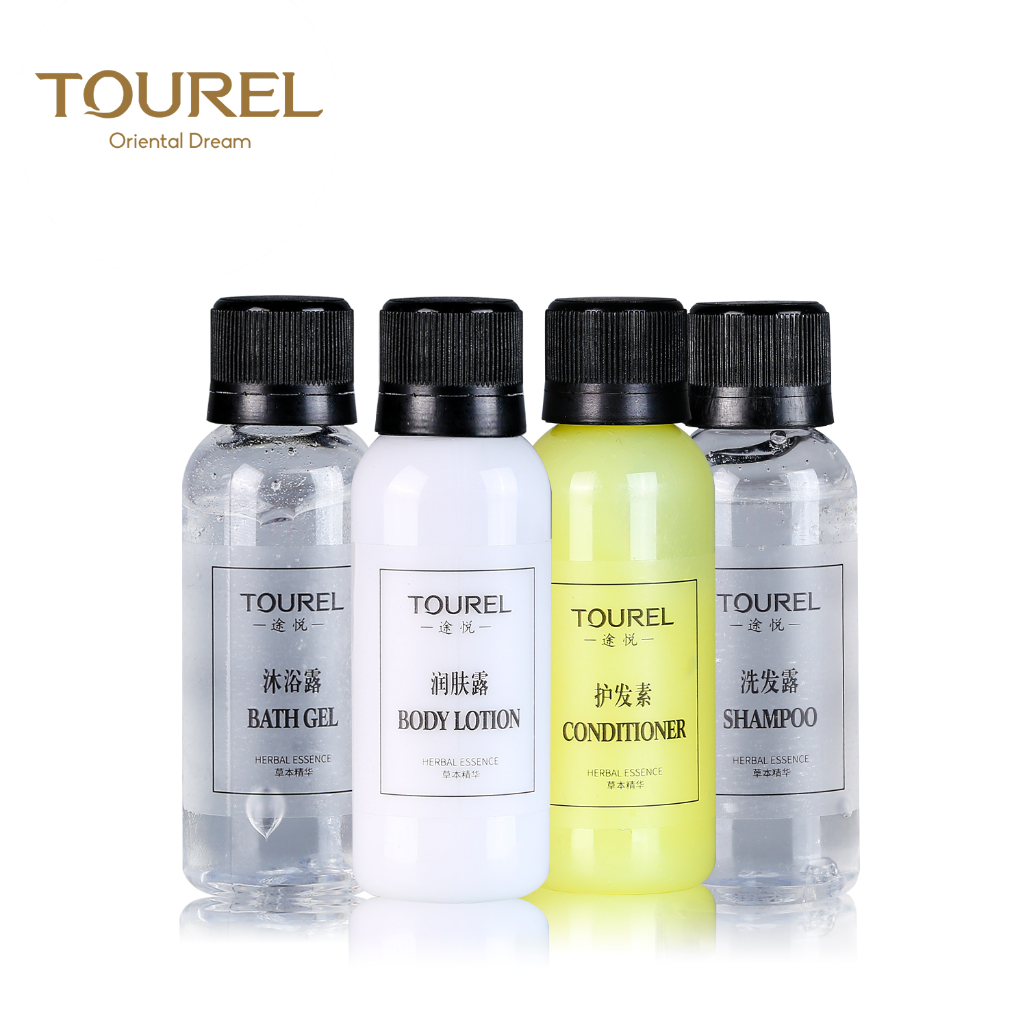 luxury 30ml PE bottle hotel shampoo and conditioner for star hotel
