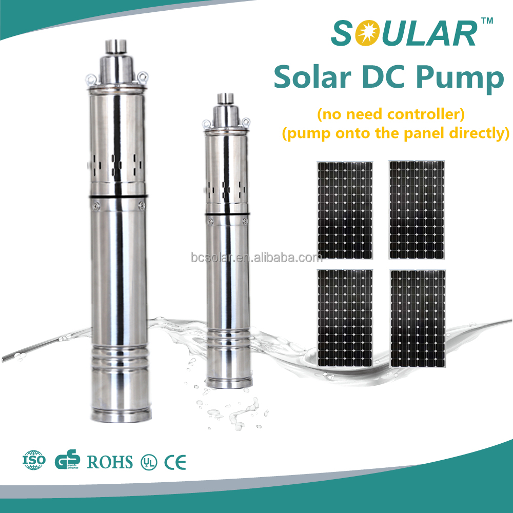 2016 Popular solar 12v dc water pump for irrigation (no need controller)