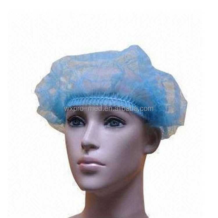 Pro-med disposable blue elasticated Nonwoven surgical caps
