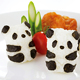 Panda Shape 3D Rice Ball Mold with Seaweed Cutter