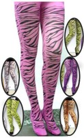 40D Adult rhythm tights, print tiger stripe