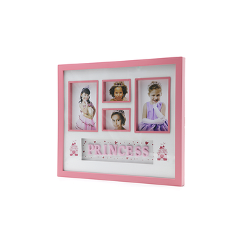 Plastic Photo Picture Frame Glass Size 4*6 With 4 Pictures Princess ...