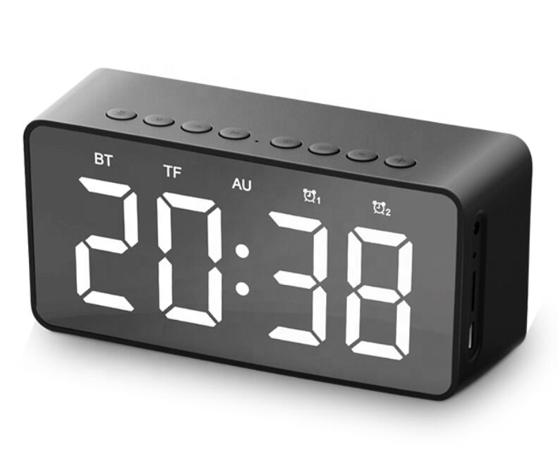 Super Mini Magnetic YZ506 10W power Bluetooth 5.0 clock radio bluetooth <strong>speaker</strong> for working on the desk