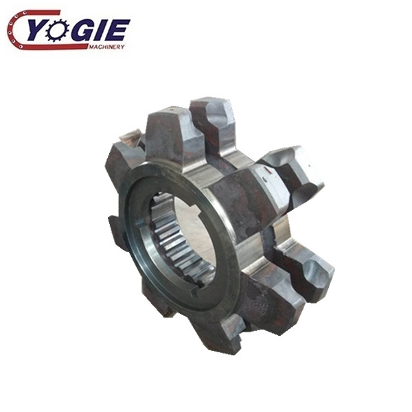 China custom industrial forging C45 casted steel double row split big diameter large roller chain sprocket