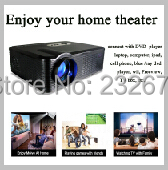 Overhead Lcd Projector With Led Lamp HDMI+USB+VGA+TV Media Tuner Support 1080p 3D For Home Theater School KTV Bar Restaurant