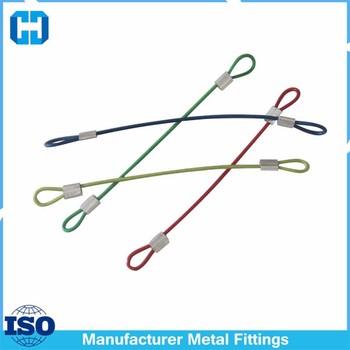 Colored Stainless Steel Wire Rope Loop Clamp Grip Eyelet Key Ring ...