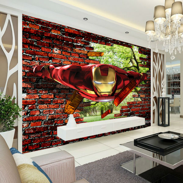 Iron Man Wallpaper Avengers Photo Custom Wall Murals Kids Boys Bedroom Decor Superhero Movie Interior Design Trees