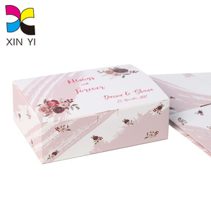 Cheap Color Printed Good Quality Favors Wedding Custom Paper Box As Door Gift