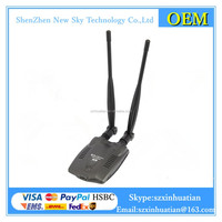 High power N9100 3000mw wifi usb adapter 5dbi antenna RT3070 Chipset networking card
