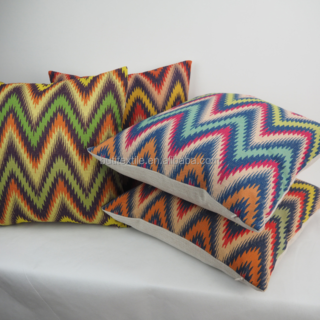 Square Fancy Throw Cushion Cover Chevron Printed Decorative Chair Seat  Pillow Case