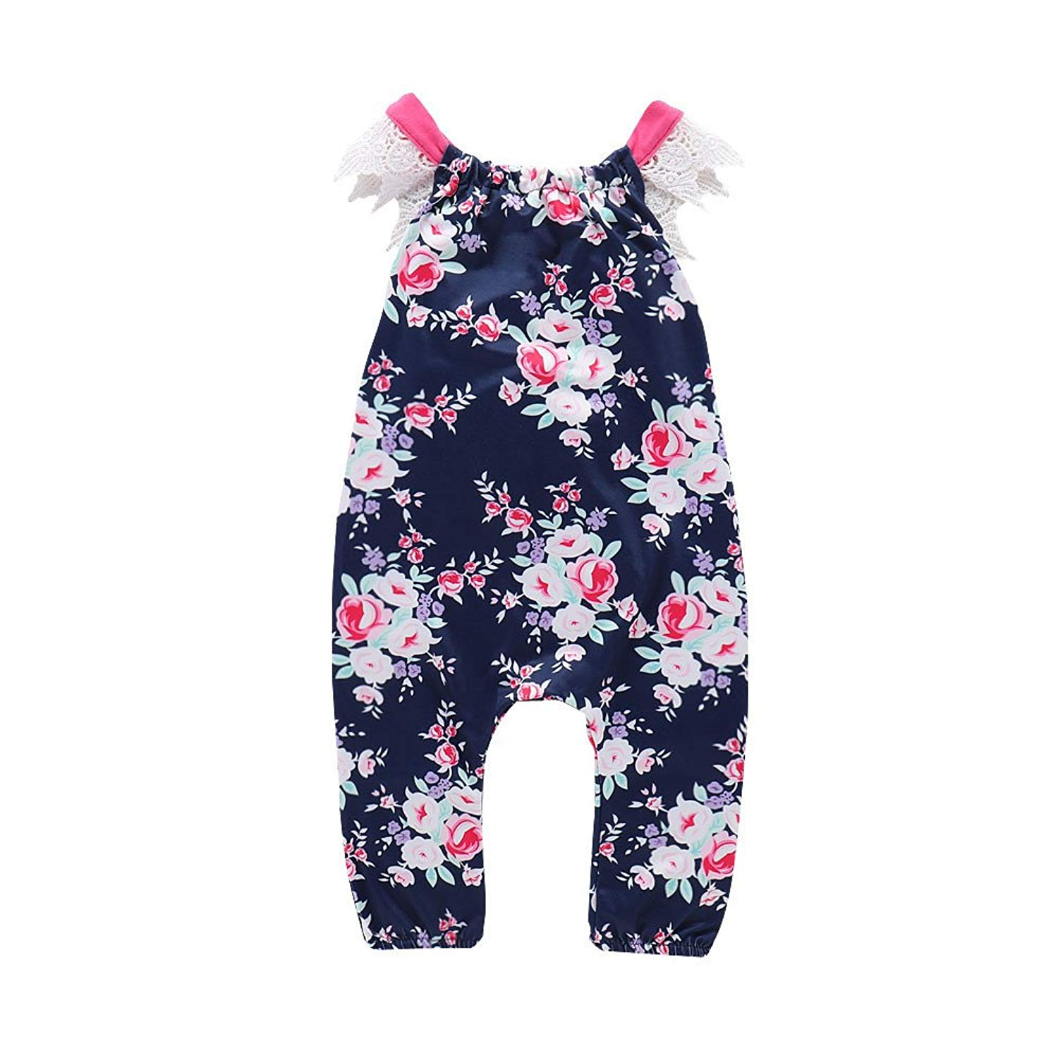 d74bcefcc46f Yamally 9R Baby Girl Rompers 0-24M Baby Girls Rompers Lace Sleeveless Floral  Pajama Summer Jumpsuit Clearance