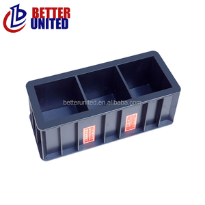 Factory directly supply Plastic Concrete 100mm Cube Three Gang Test Molds