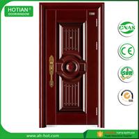 China alibaba cheap exterior steel door Press the pattern steel panel door security door for home